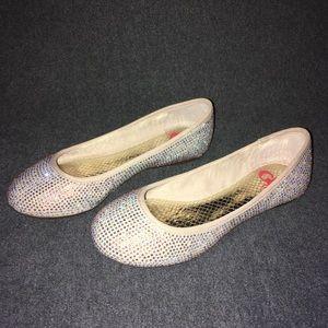 Girls Sparkle Ballet Flats (Size 1M)